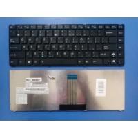 Клавиатура для ноутбука Asus UL20 eee PC 1201 1201T 1201X 1201N Series. Черная, с черной рамкой