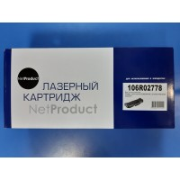 Картридж NetProduct (N-106R02778) для Xerox Phaser 3052/ 3260/ WC 3215/3225, 3K